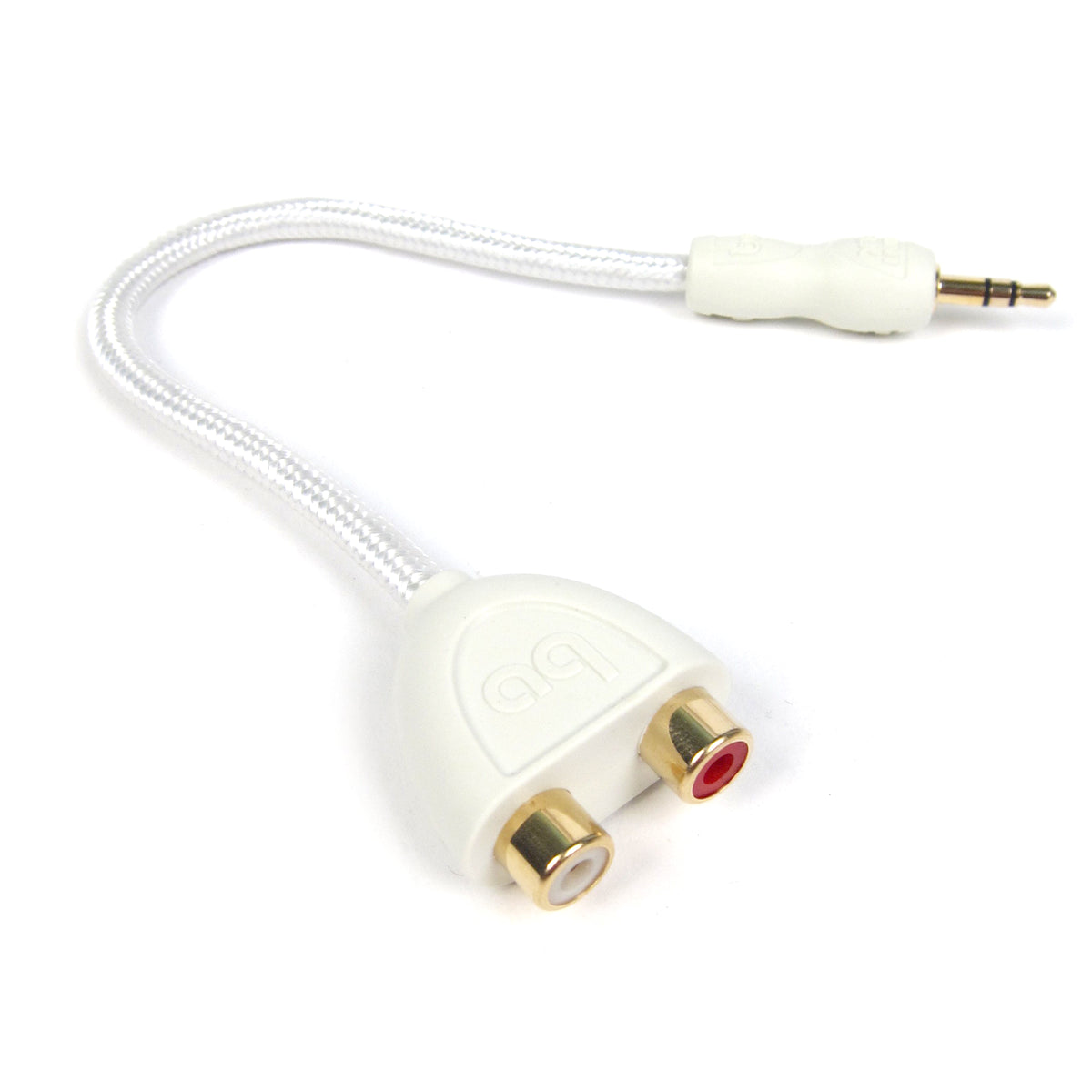 Audioquest: FLX-Mini 3.5mm / RCA Adaptor (Female RCA Y-Cable for Turntables)