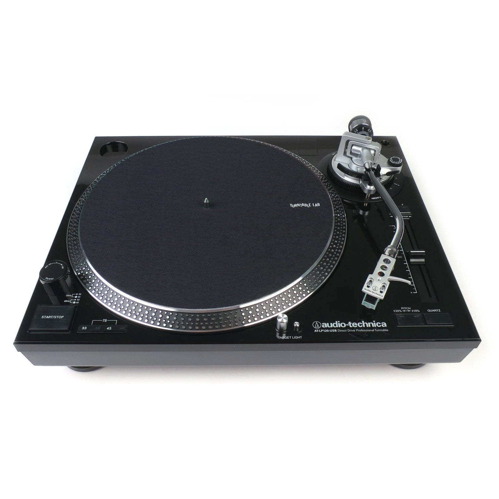 audio technica at lp120bk usb turntable black turntablelab com