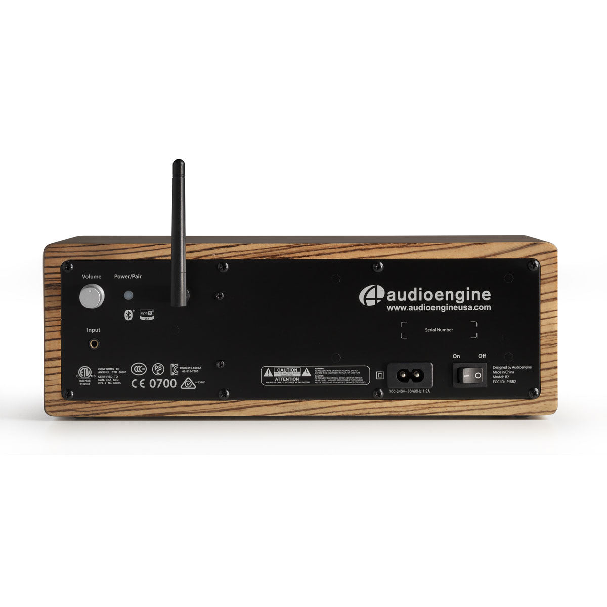 Audioengine: B2 Bluetooth Desktop Speaker - Black Ash back