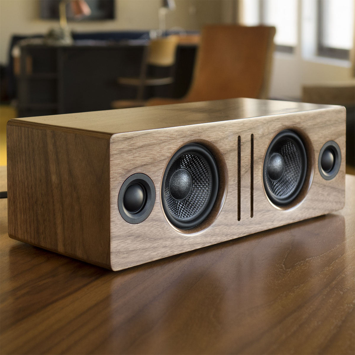 Audioengine: B2 Bluetooth Desktop Speaker - Walnut lifestyle 3