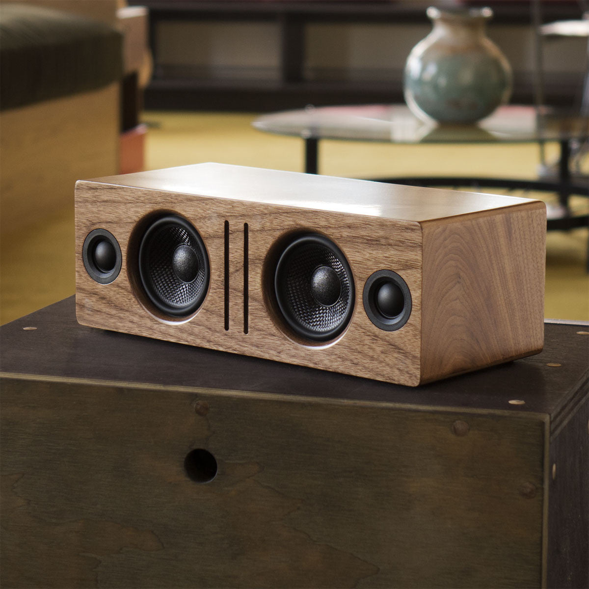 Audioengine: B2 Bluetooth Desktop Speaker - Walnut lifestyle