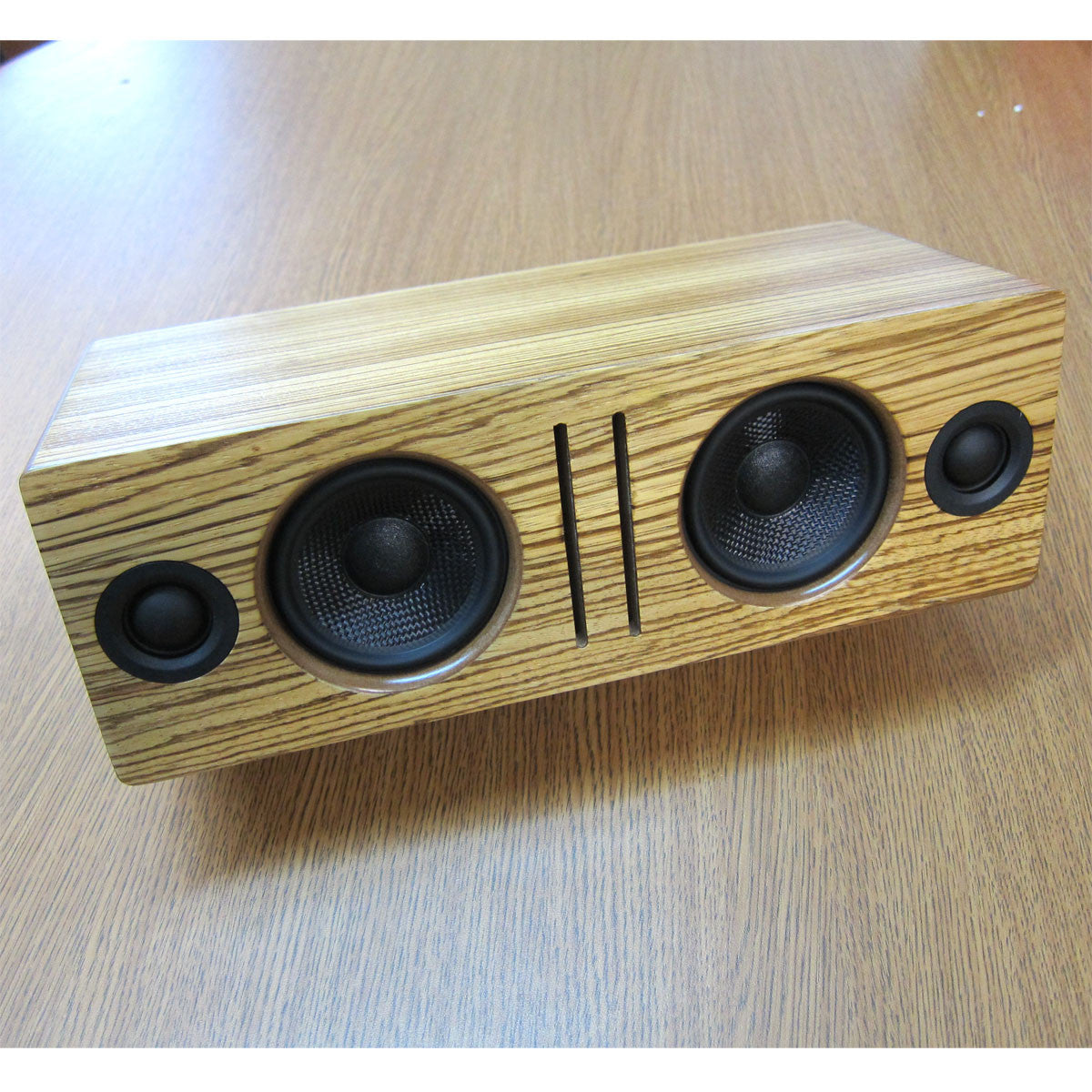 Audioengine: B2 Bluetooth Desktop Speaker - Zebrawood candid