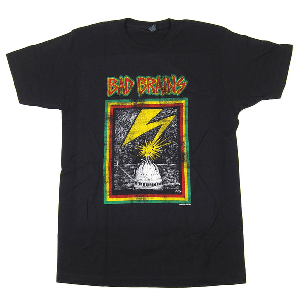 Bad Brains: Distressed Capital Shirt - Coal