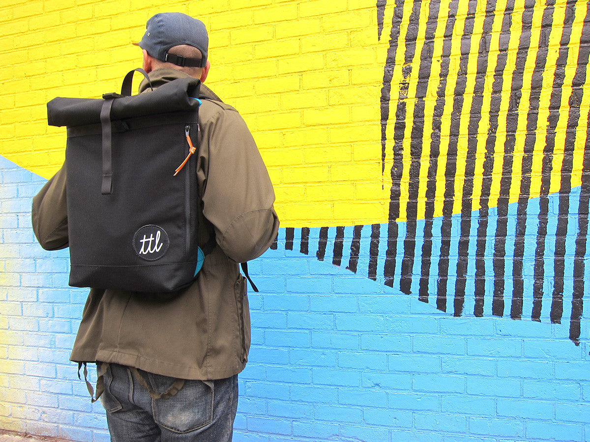 Turntable Lab: TTL Roll-Top Backpack - Bold Condensed