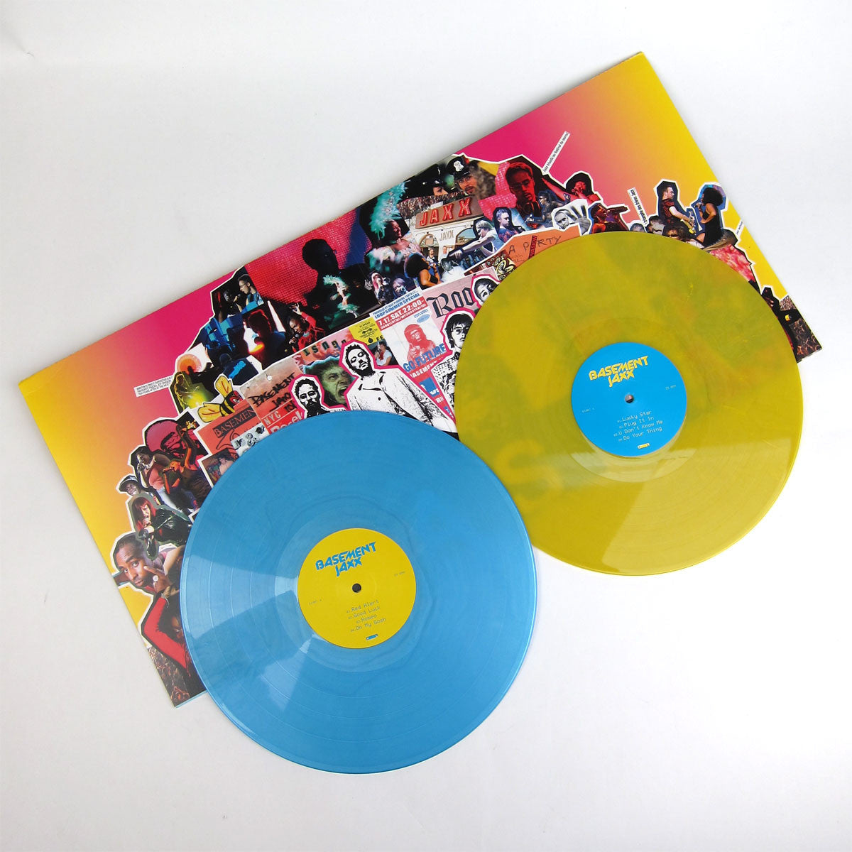 Basement Jaxx: The Singles (Colored Vinyl, Free MP3) Vinyl 2LP detail