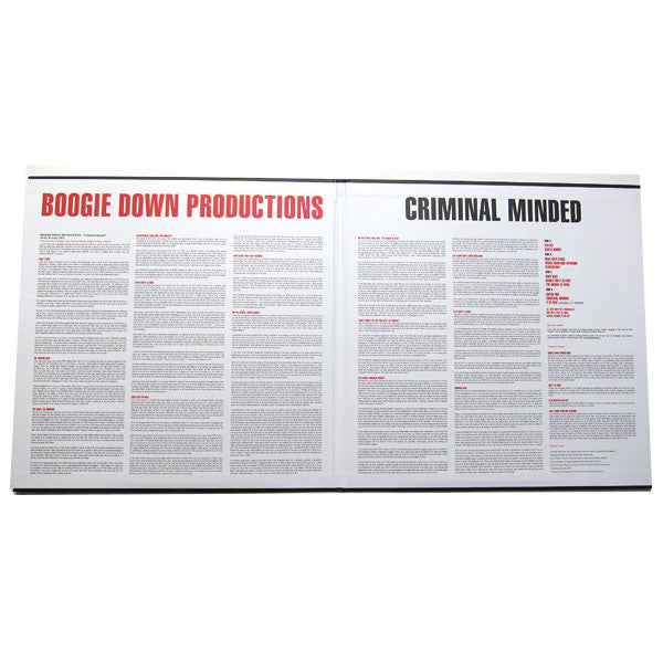 Boogie Down Productions: Criminal Minded (Remastered w/ Poster) 2LP gate