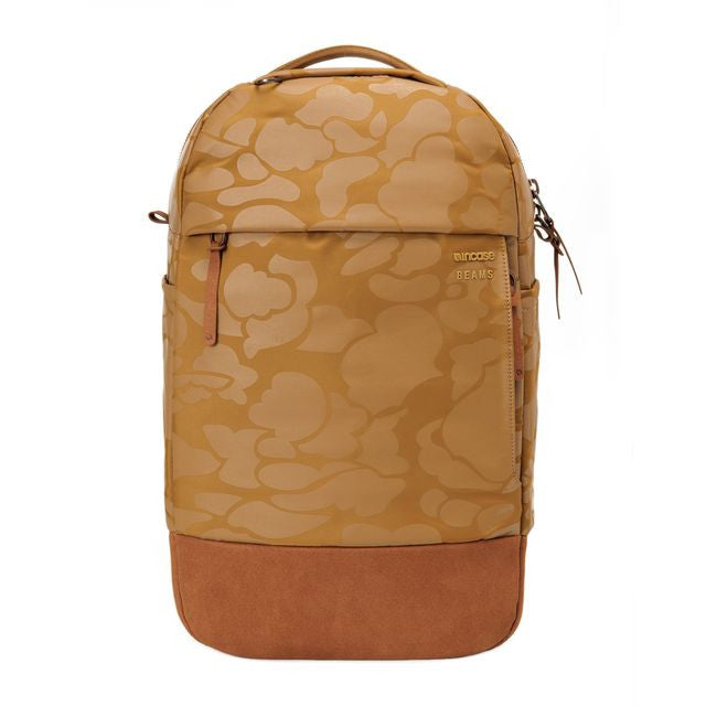 Incase: Campus Compact Backpack - Beams Exclusive British Khaki Camo detail