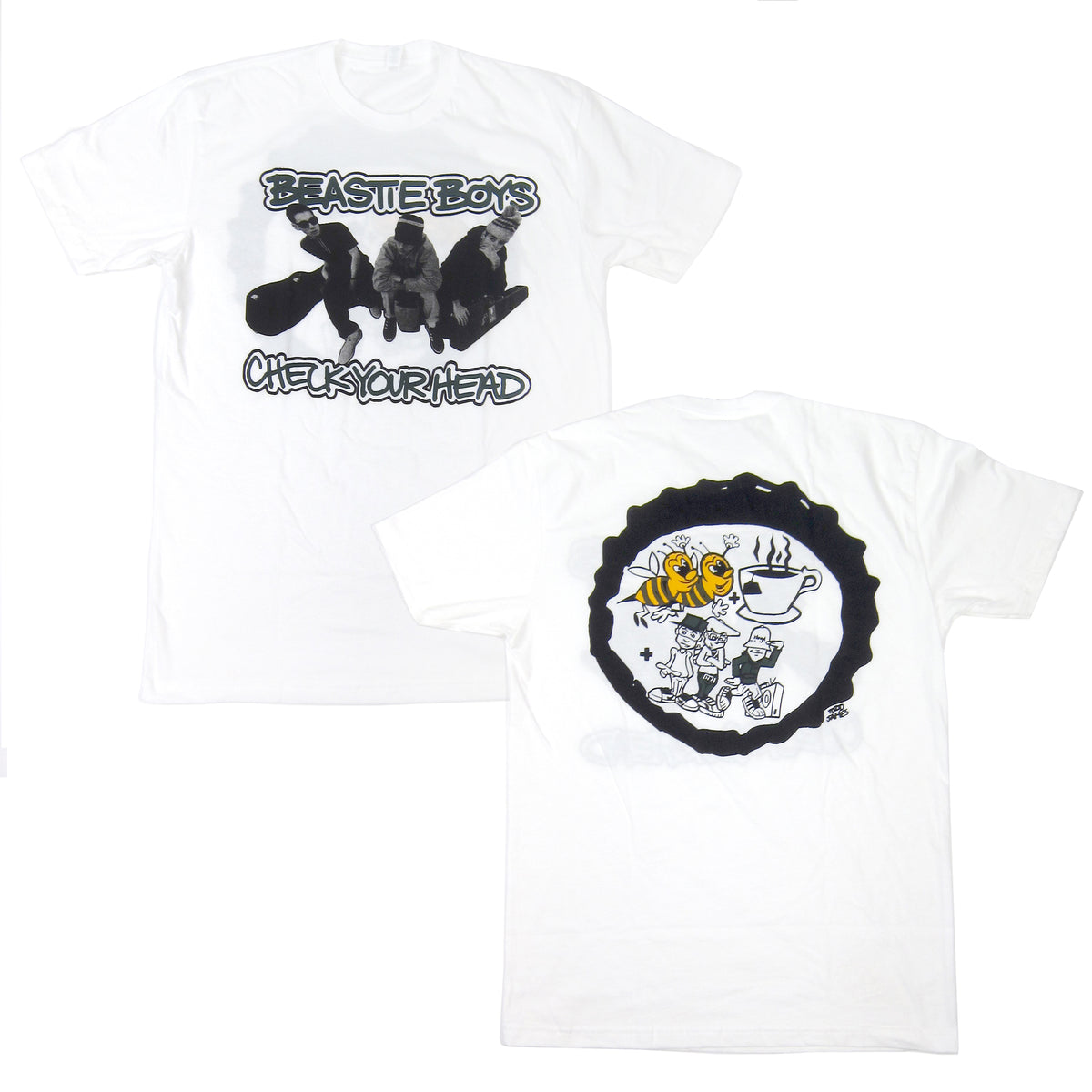 Beastie Boys: Bees Tea Shirt - White