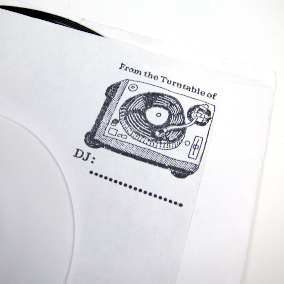 Beast Quality: Record Stamp + Inkpad Set - Turntable