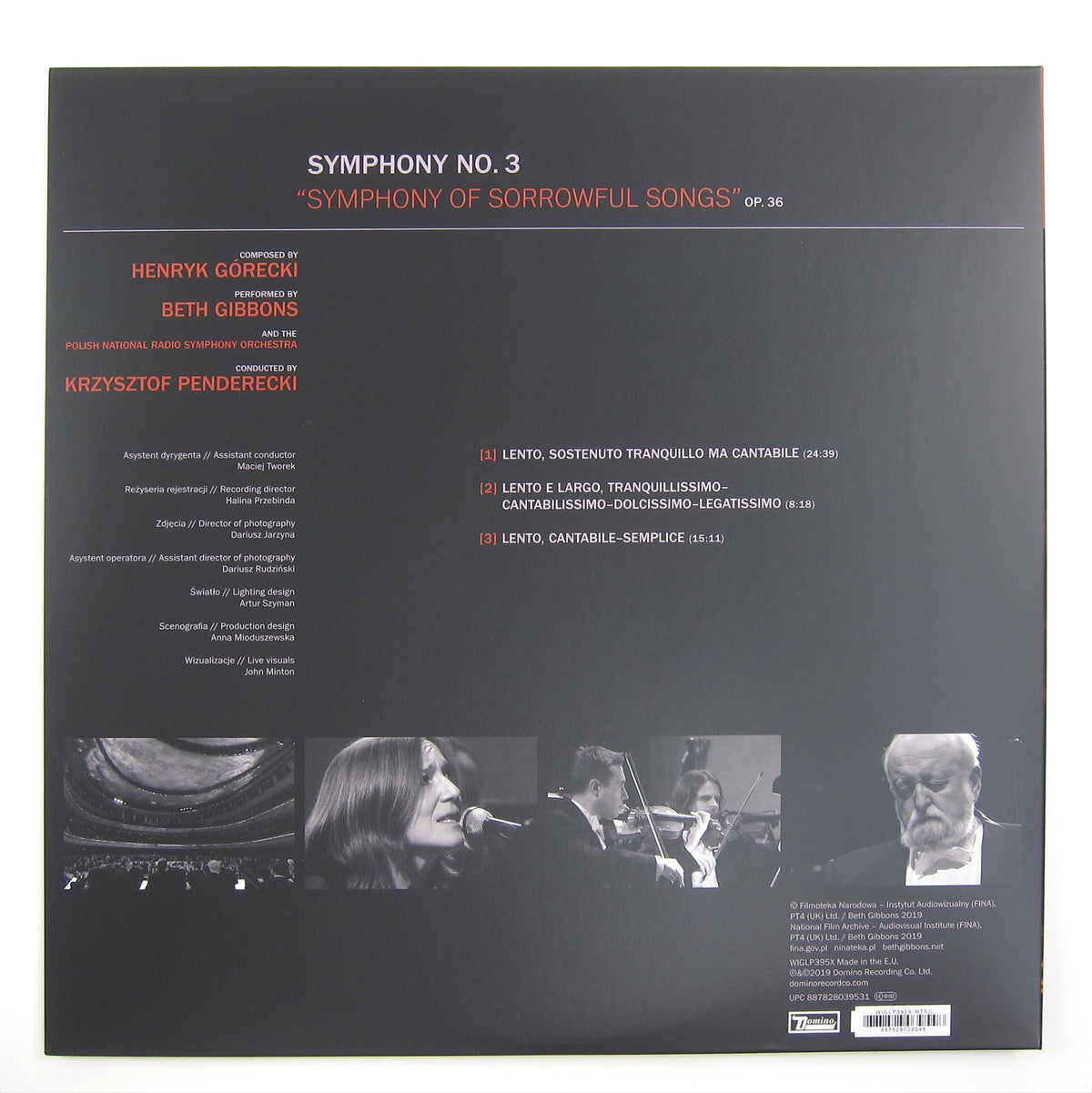 Beth Gibbons: Henryk Górecki - Symphony No.3 (180g Indie Exclusive) Vinyl LP+DVD - Deluxe Edition