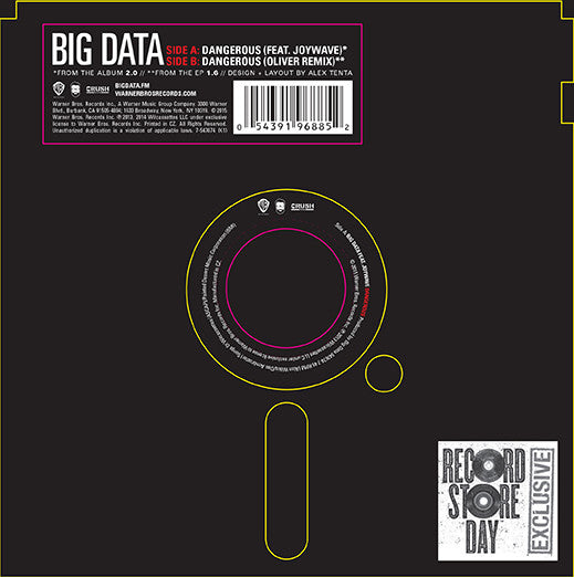 "Big Data: Dangerous (Square Flexi Disc) Vinyl 7"" (Record Store Day)"