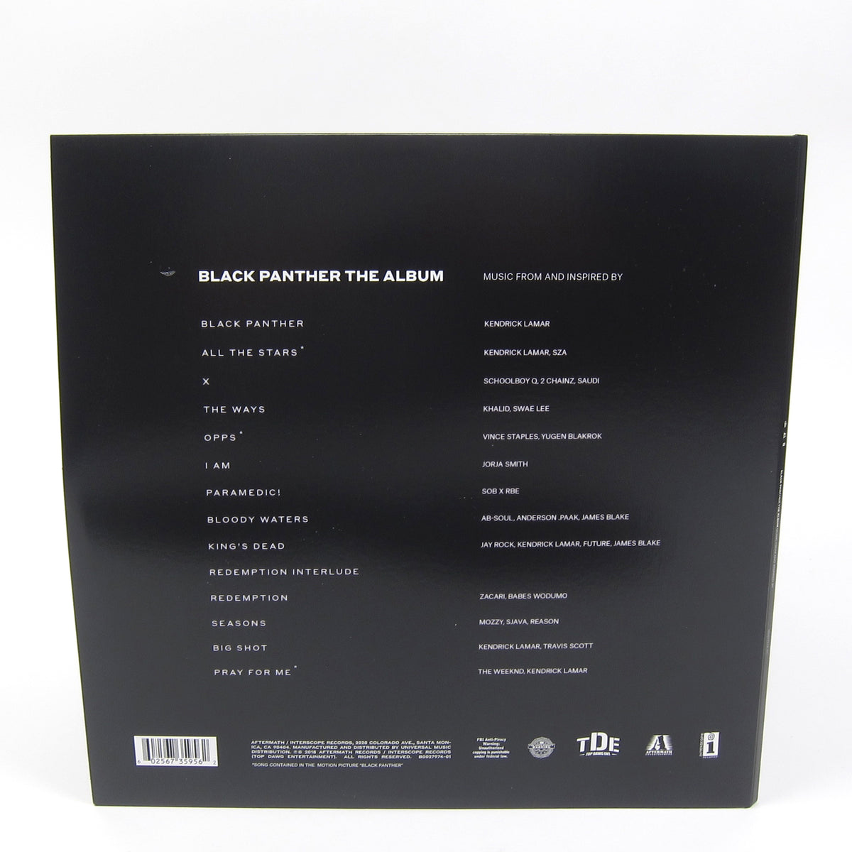 Kendrick Lamar: Black Panther The Album Soundtrack (180g) Vinyl 2LP
