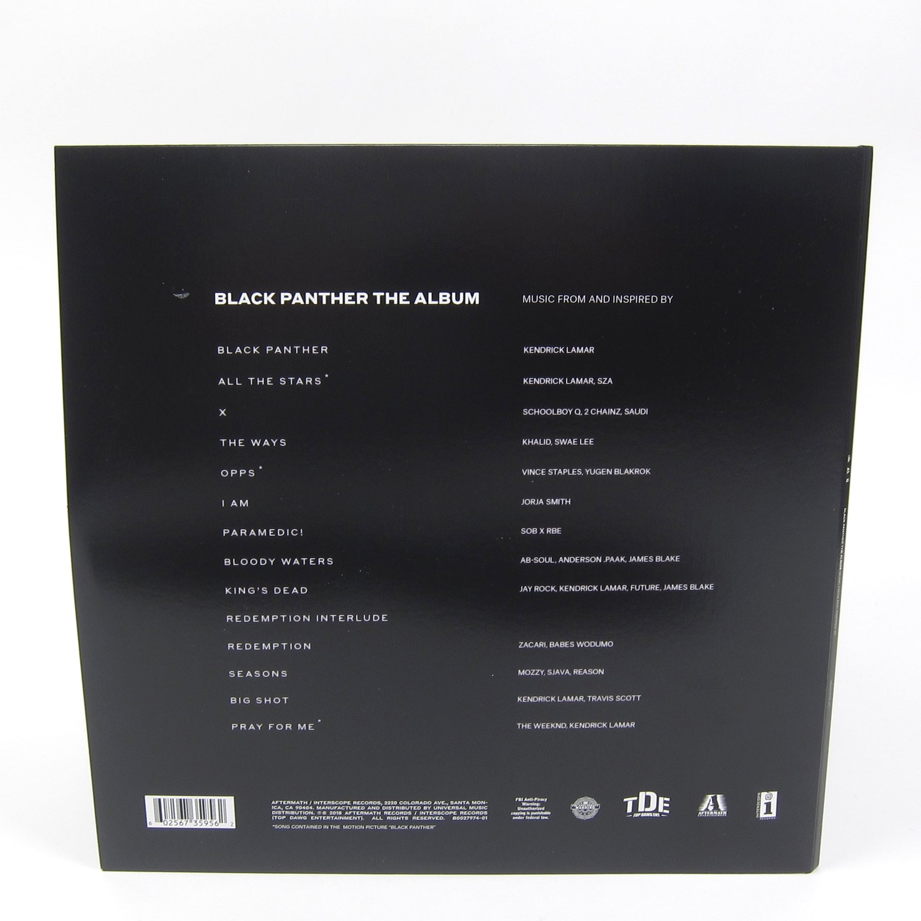 Kendrick Lamar Black Panther The Album Soundtrack 180g Vinyl 2lp