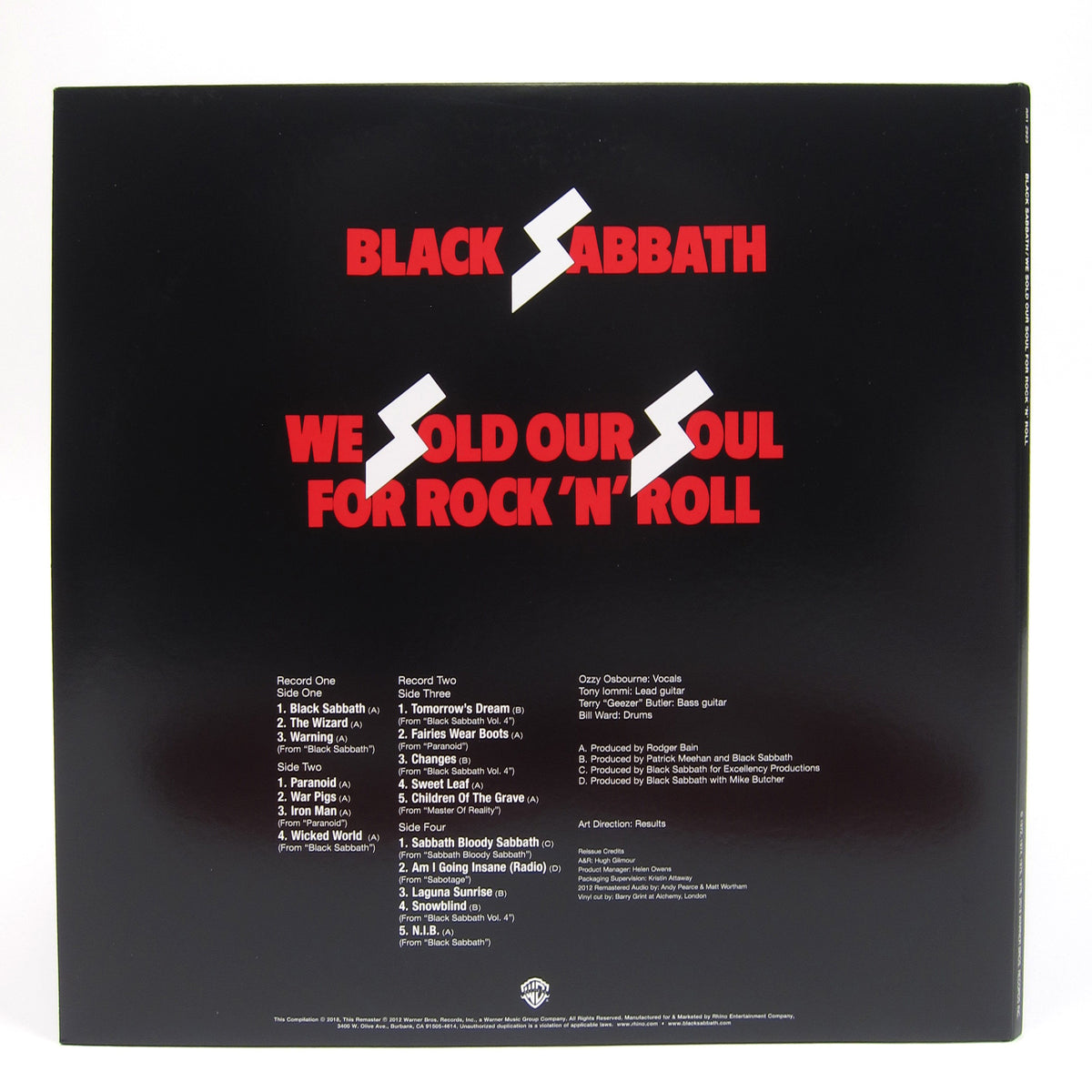 Black Sabbath: We Sold Our Soul for Rock 'n' Roll (Colored Vinyl) Vinyl 2LP