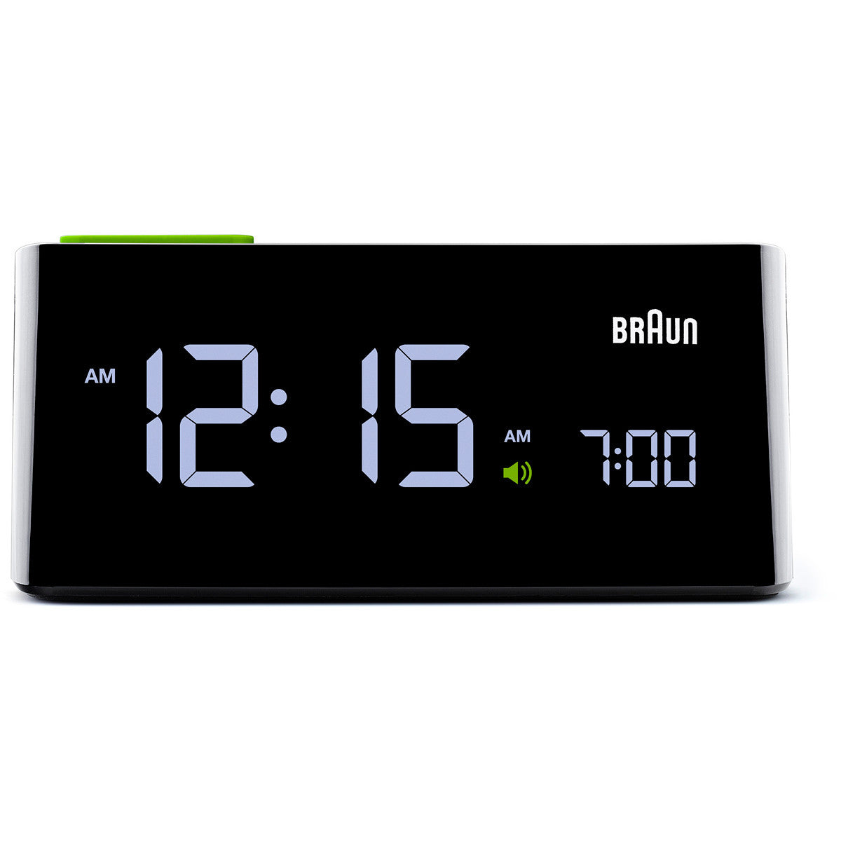 braun digital lcd alarm clock black bn c016bk. Black Bedroom Furniture Sets. Home Design Ideas