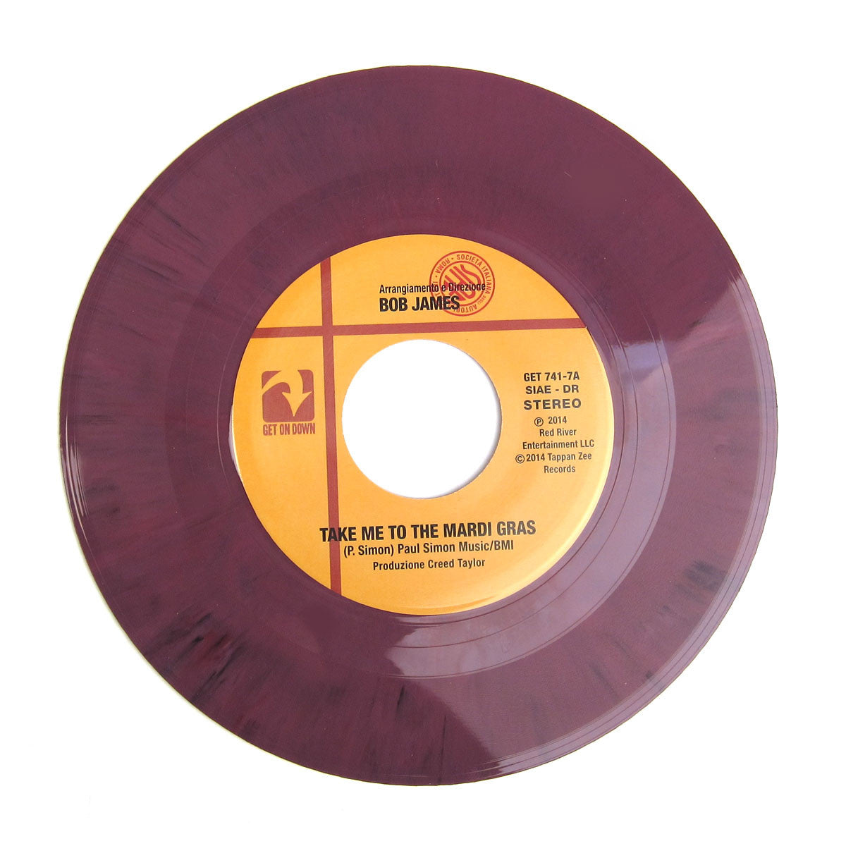 "Bob James: Take Me To The Mardi Gras (Colored Vinyl) Vinyl 7"" detail"