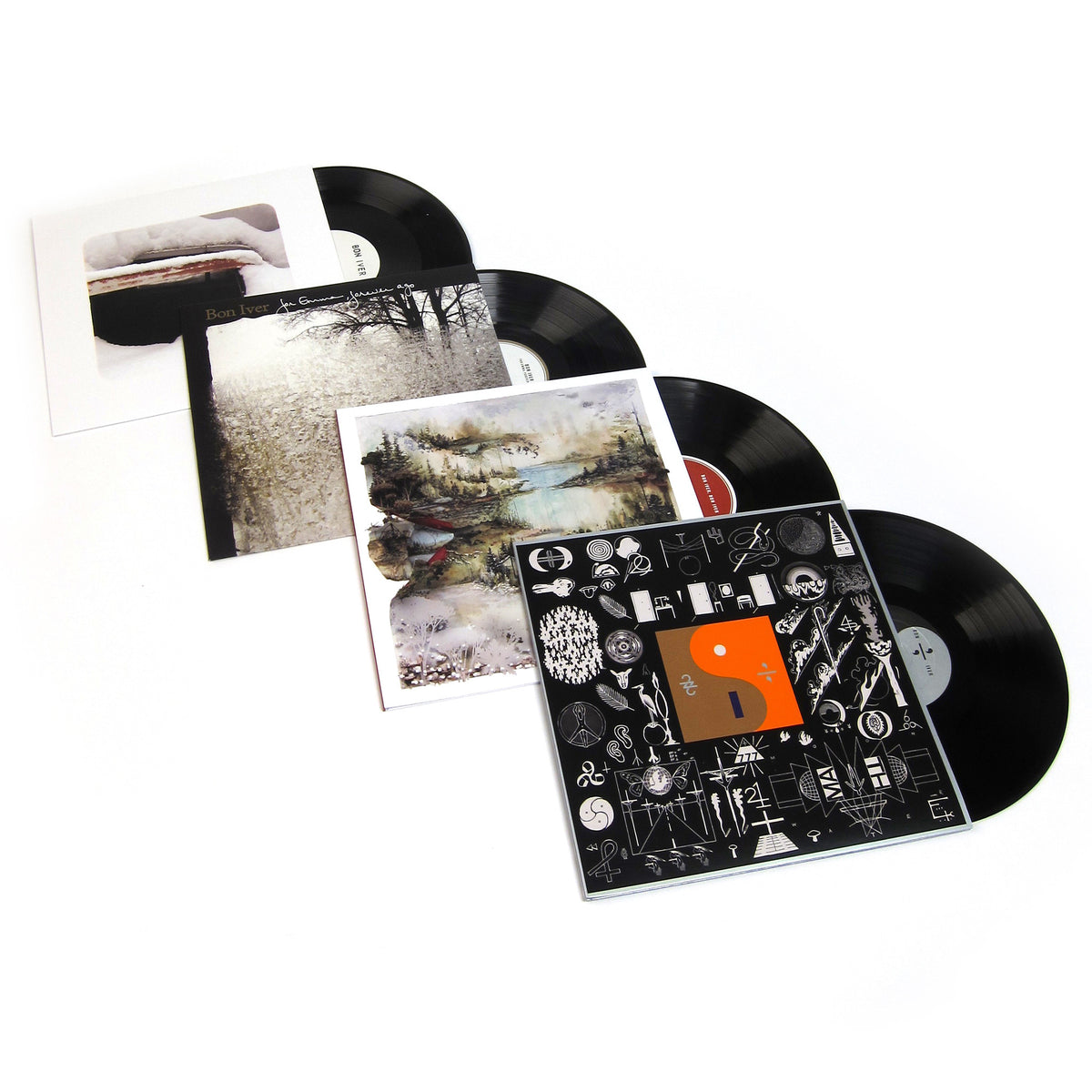 Bon Iver: Vinyl LP Album Pack (For Emma, Forever Ago, Bon Iver, 22, A Million, Blood Bank)