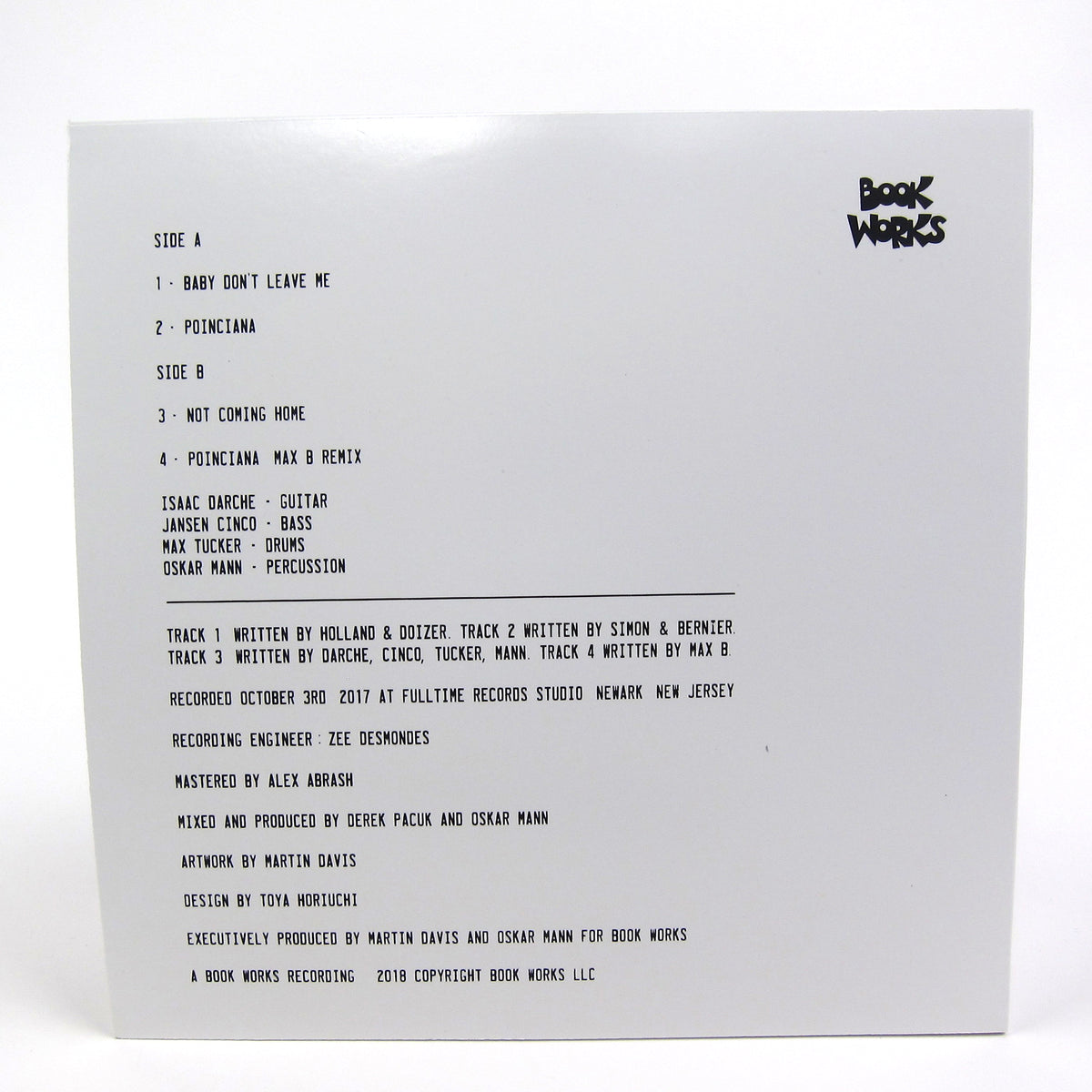 The Book Works Trio: The Book Works Trio EP Vinyl 12""