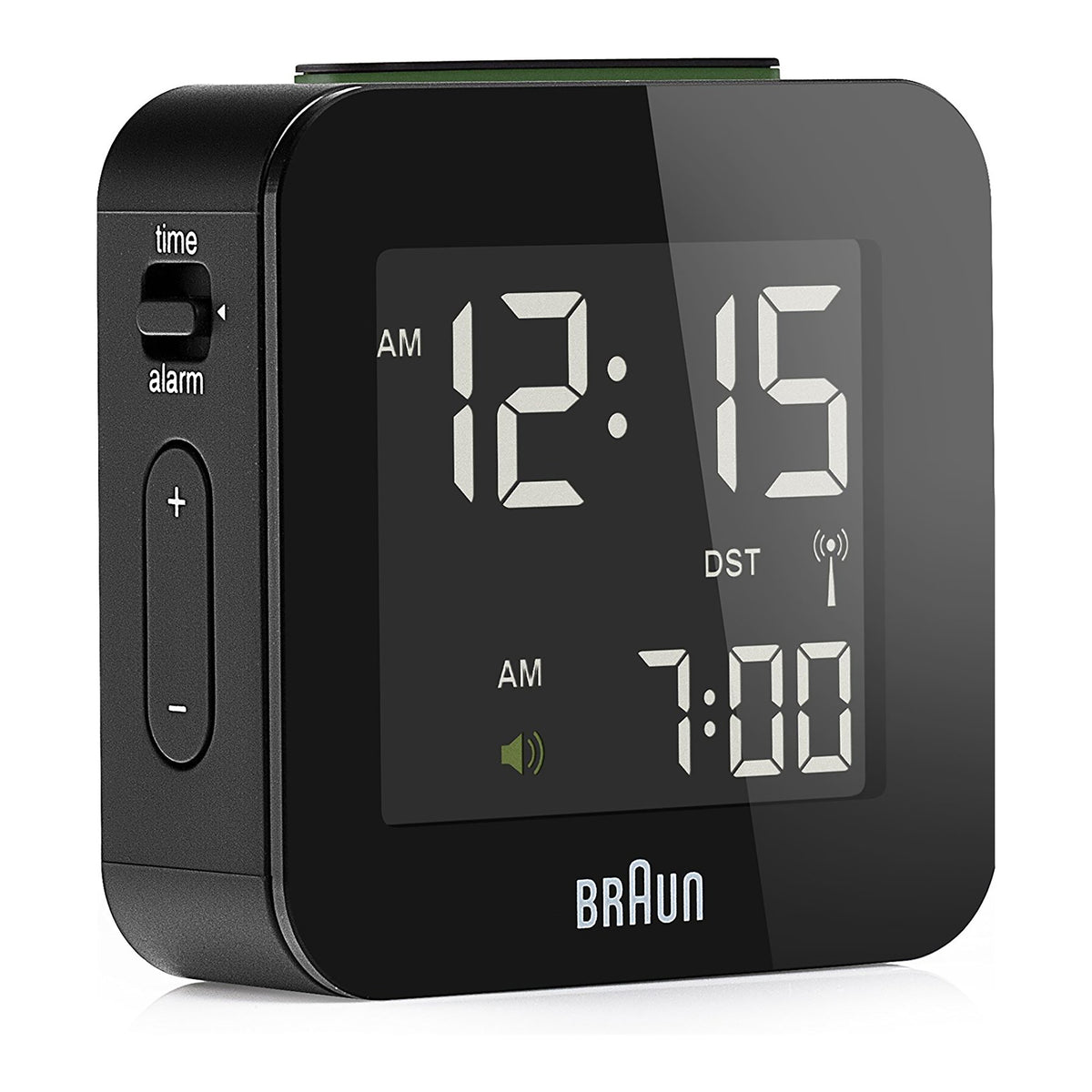Braun: Digital Travel Alarm Clock - Black (BN-C008BK-RC)
