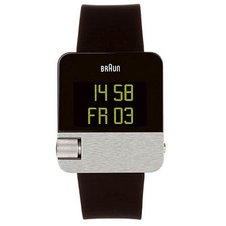 Braun: BN10 Digital Watch With EasySkroll - Black Rubber (BN0106SLBKG)