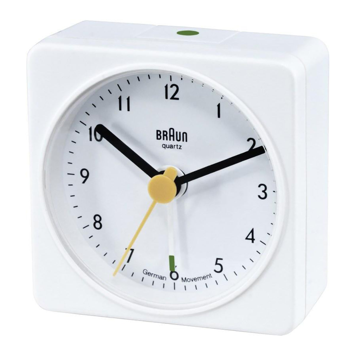 Braun: Classic Travel Alarm Clock - White (BN-BC02W)