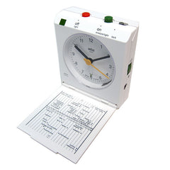 Braun: Flip Down Travel Alarm Clock - White (BN-C005-WH)
