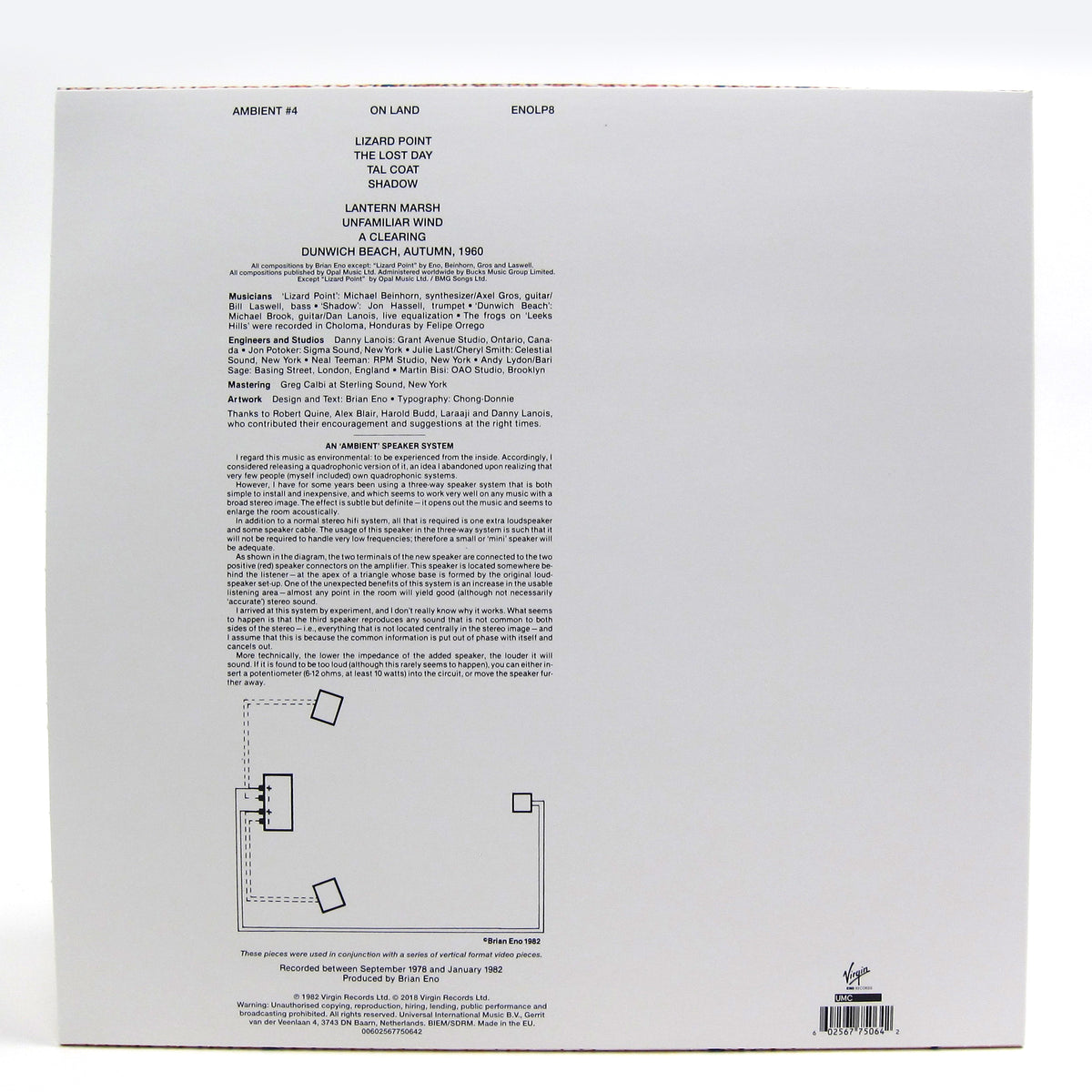Brian Eno: Ambient 4 - On Land (180g) Vinyl LP