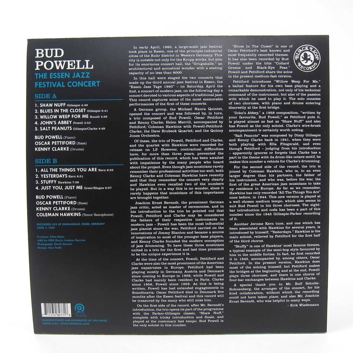 Bud Powell: The Essen Jazz Festival Concert (Indie Exclusive Colored Vinyl) Vinyl LP