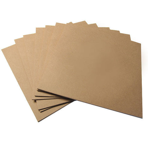 Record Supply Co: LP Outer Jackets - No Hole, Kraft Brown (10 Units)