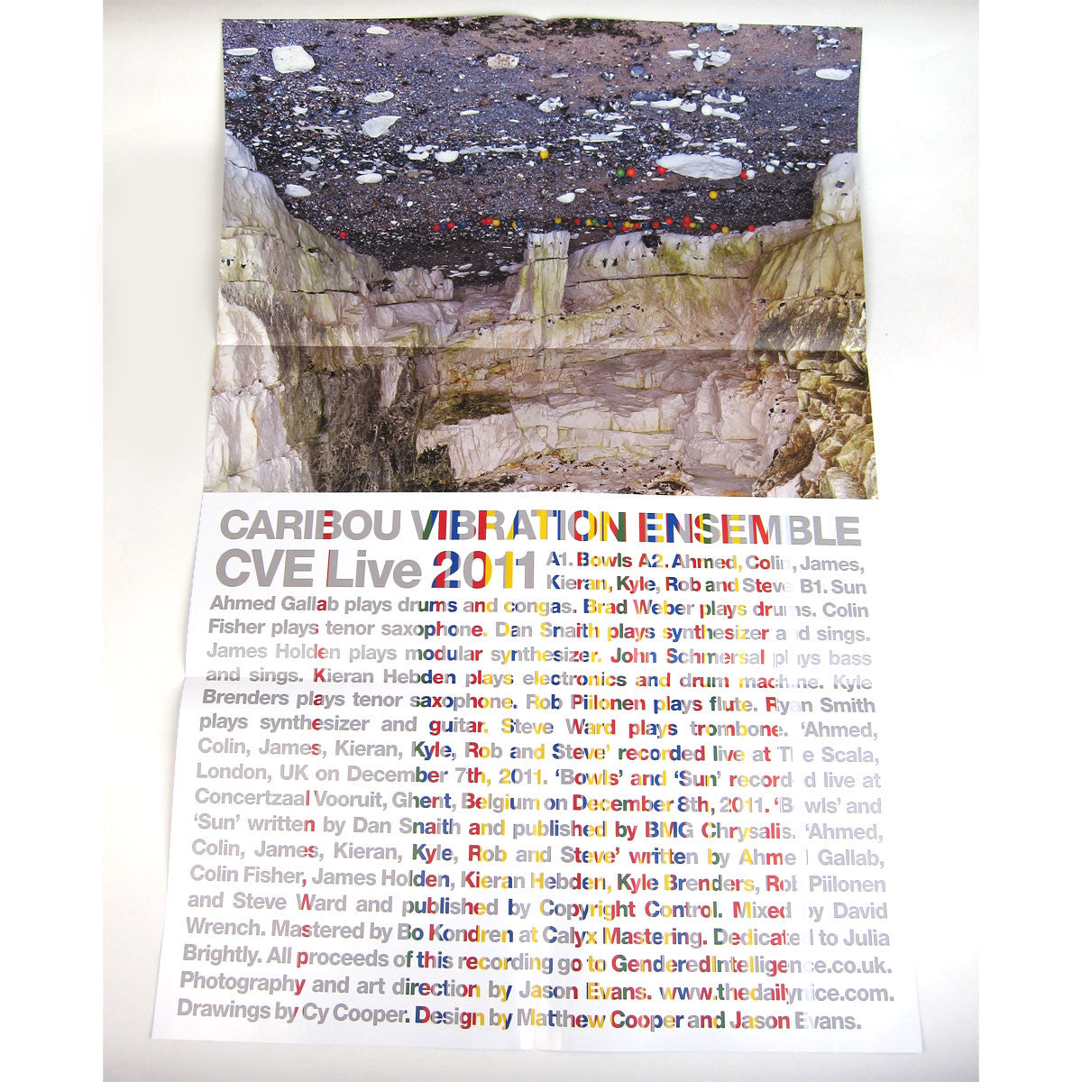 Caribou Vibration Ensemble: CVE Live 2011 (Four Tet, James Holden) Vinyl LP detail 2