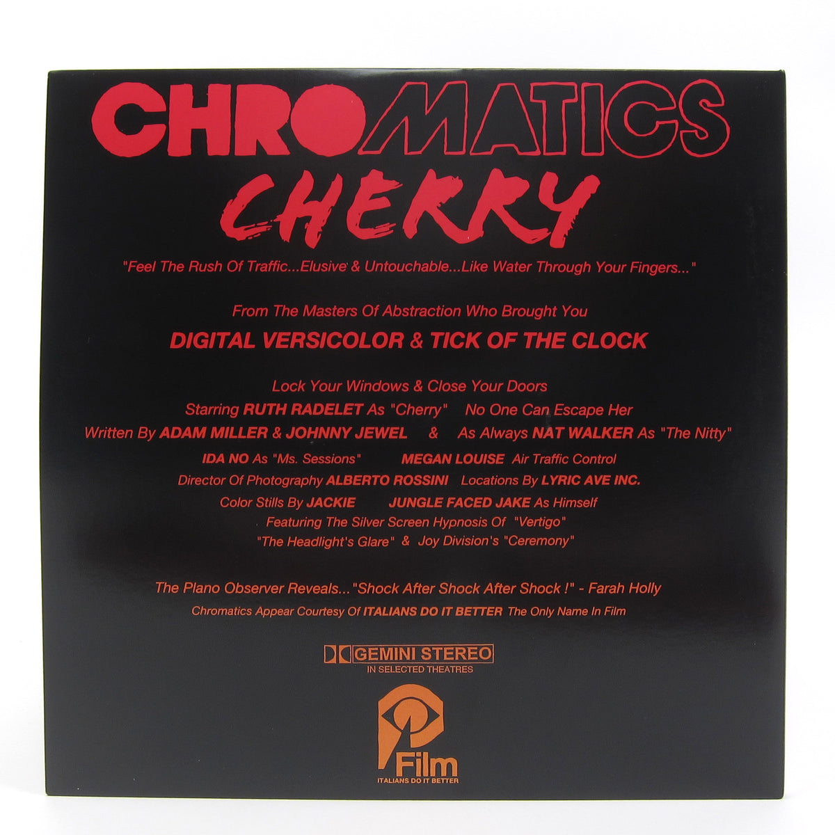Chromatics: Cherry Deluxe Edition (Colored Vinyl) Vinyl 2LP