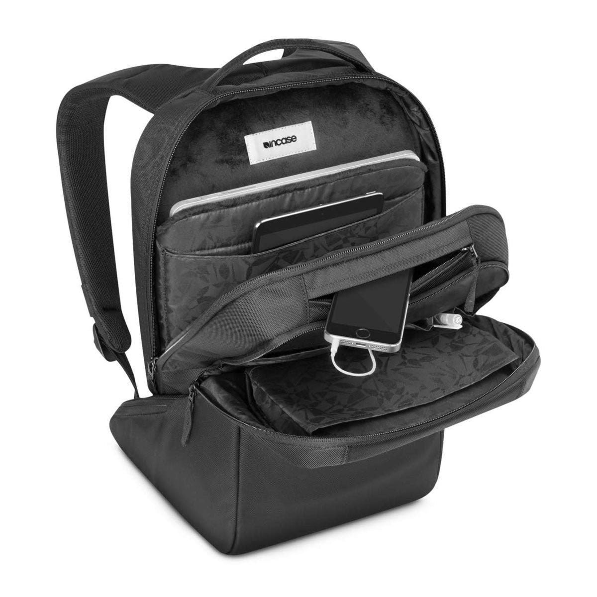 Incase: Icon Slim Backpack - Black (CL55535) open