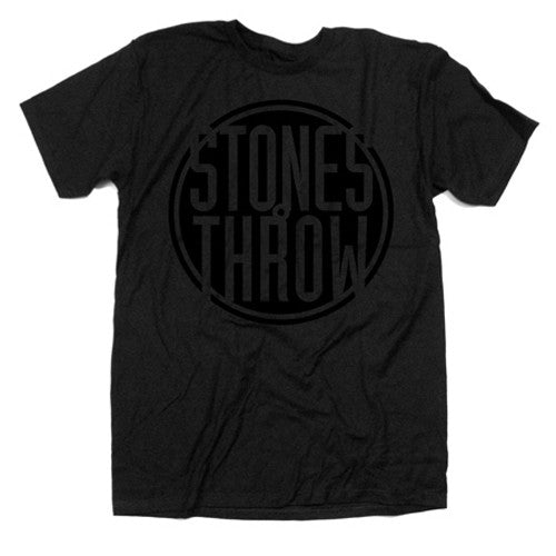 Stones Throw: Classic Logo Shirt - Black / Black