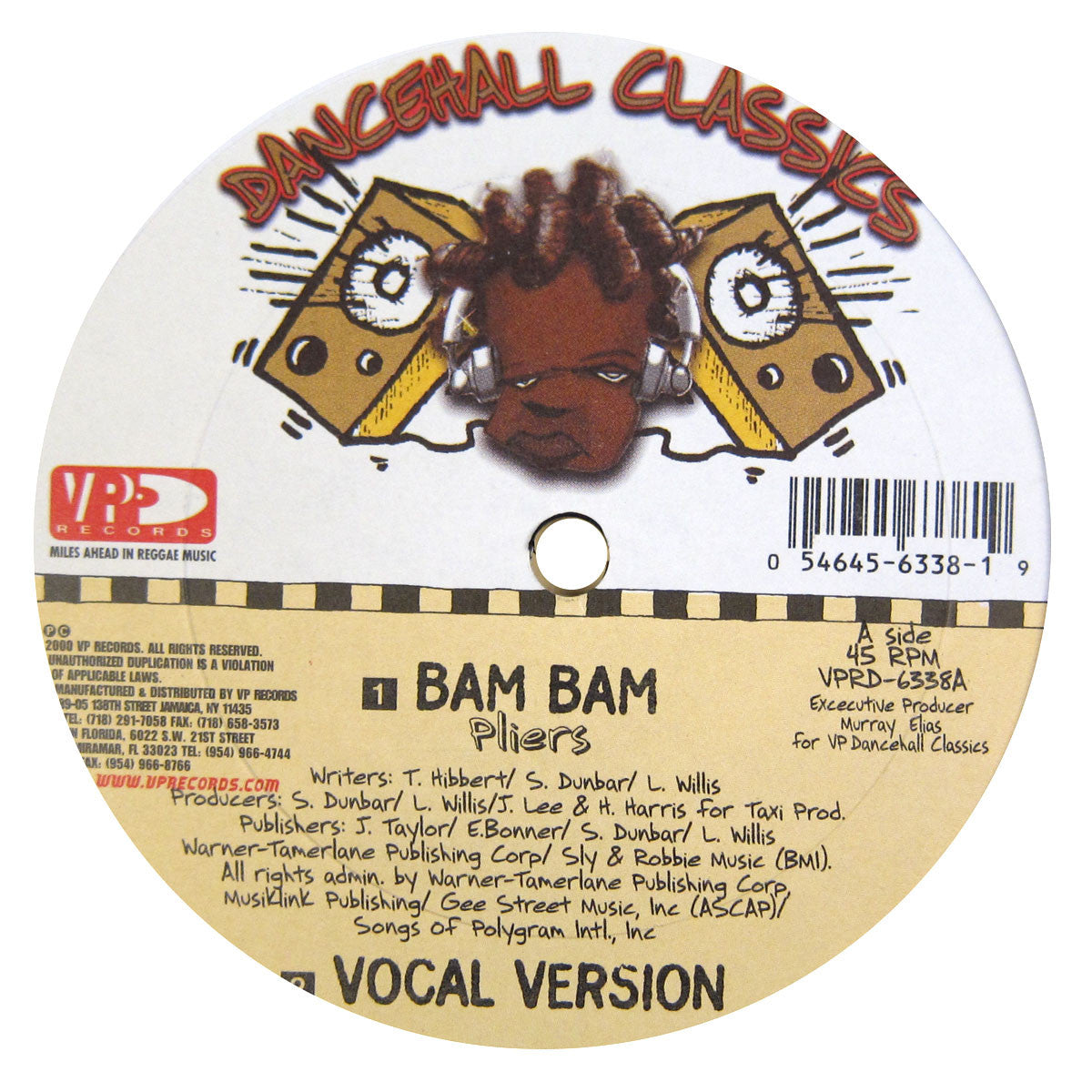"VP Records: Dancehall Classics 5x12"" Pack (Diseases, Murder She Wrote, Ring The Alarm, Bam Bam) 5"