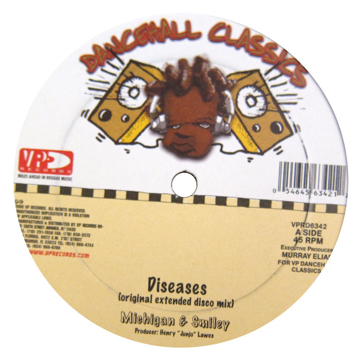 "VP Records: Dancehall Classics 5x12"" Pack (Diseases, Murder She Wrote, Ring The Alarm, Bam Bam) 4"