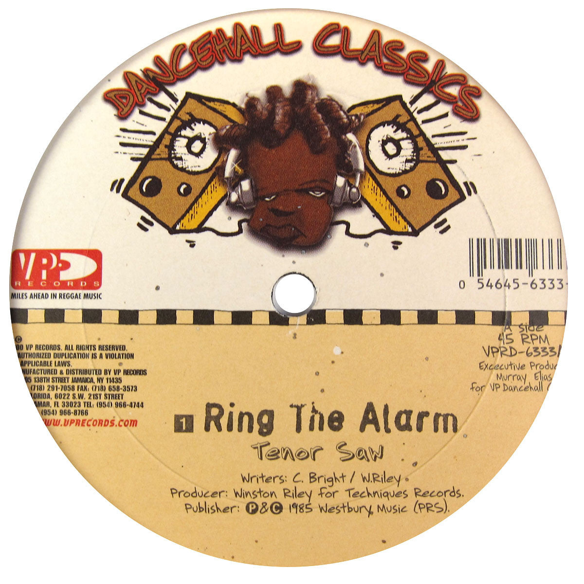 "VP Records: Dancehall Classics 5x12"" Pack (Diseases, Murder She Wrote, Ring The Alarm, Bam Bam) 2"