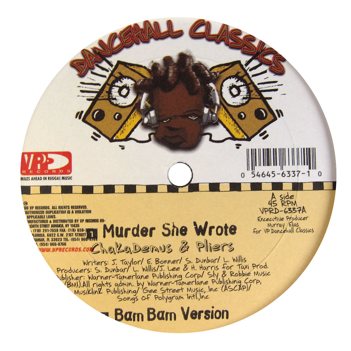 "VP Records: Dancehall Classics 5x12"" Pack (Diseases, Murder She Wrote, Ring The Alarm, Bam Bam) 1"