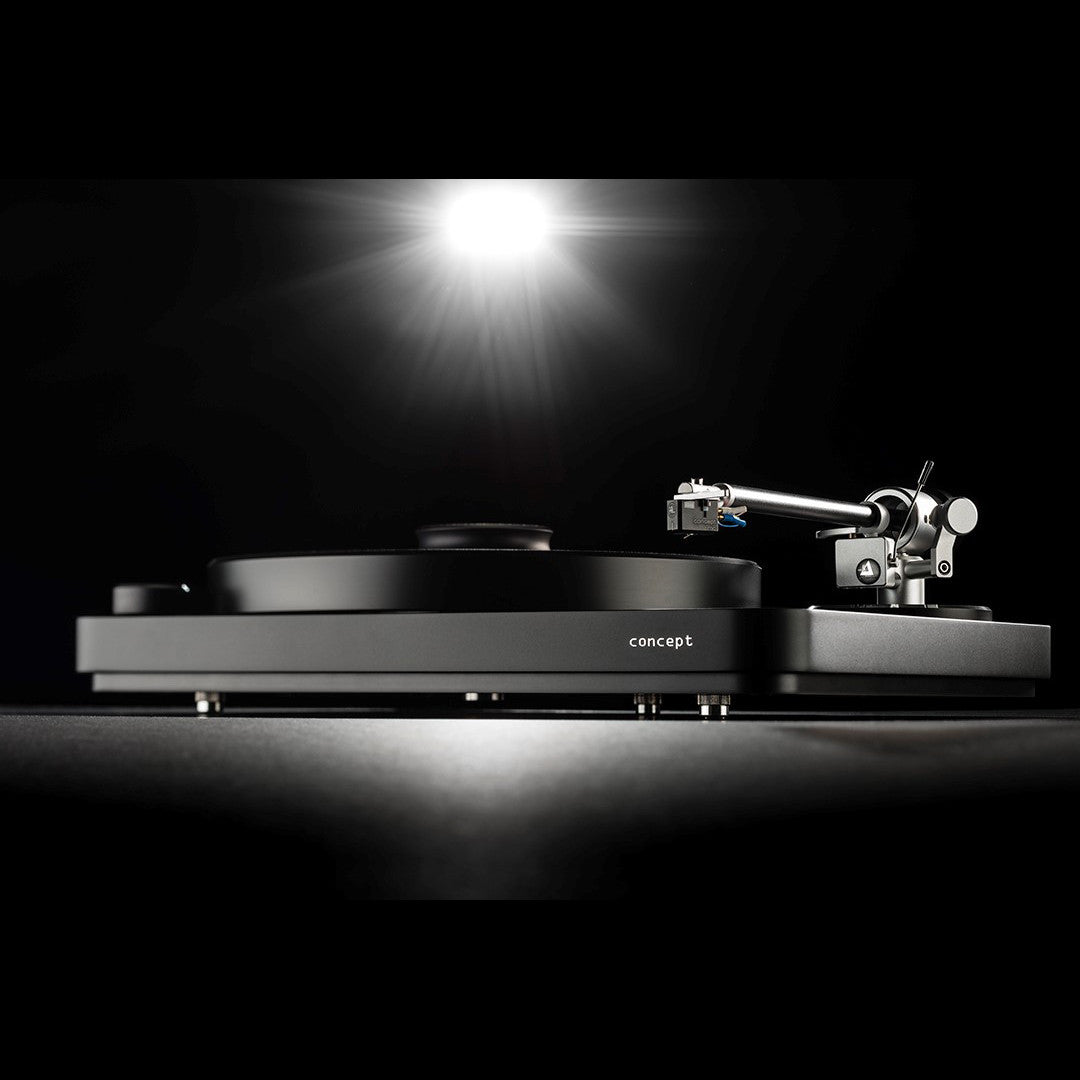 Clearaudio performance dc turntable package - Clearaudio Concept Black Turntable Verify Tonearm Concept Mm Cartridge