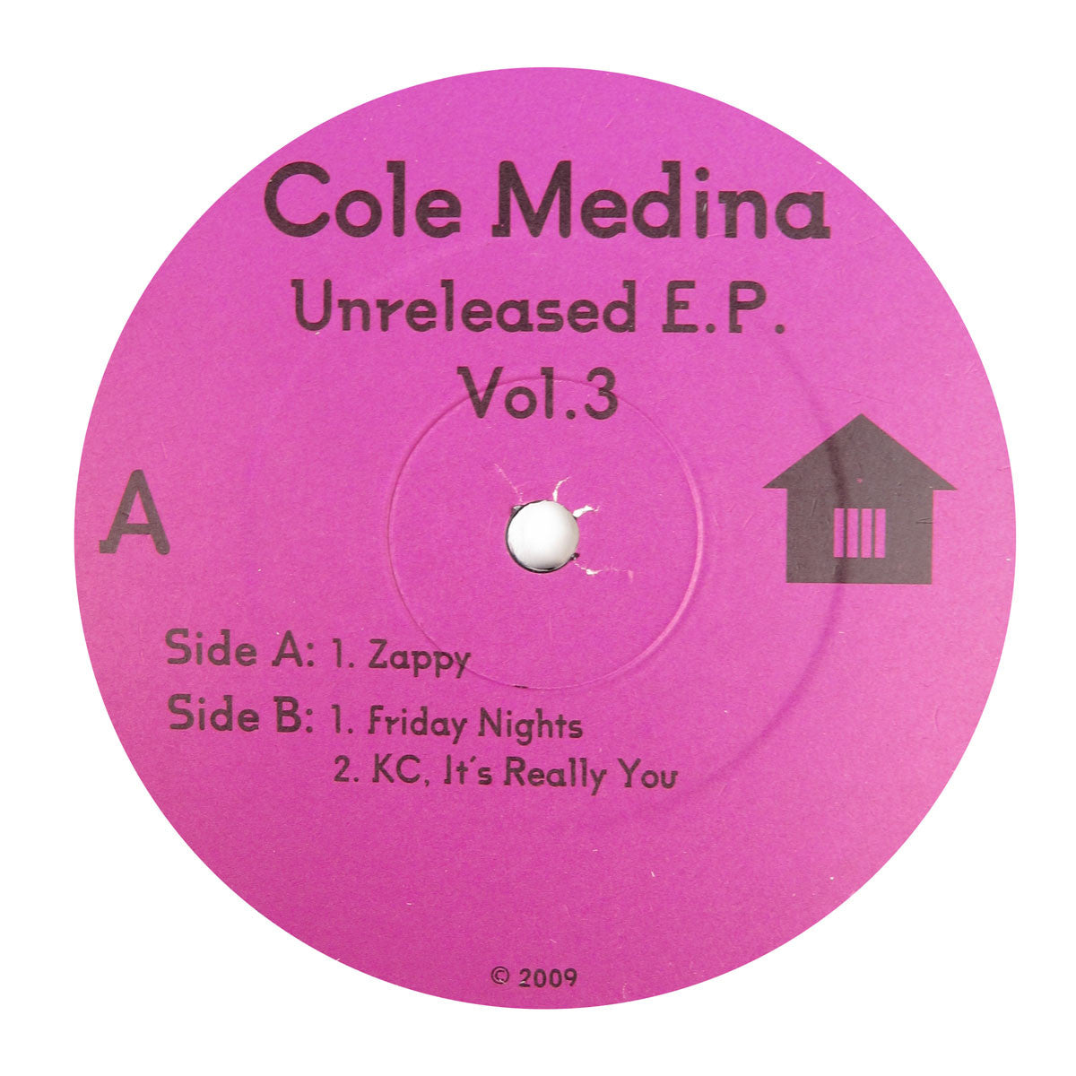 Cole Medina: Unreleased EP Vol.3 Vinyl 12""