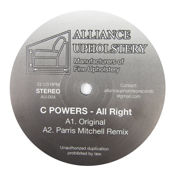 C Powers: All Right (Kai Alce, Parris Mitchell) Vinyl 12""