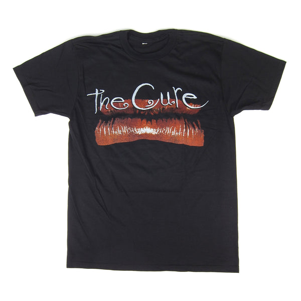 The Cure: Kiss Me Lip Shirt - Black