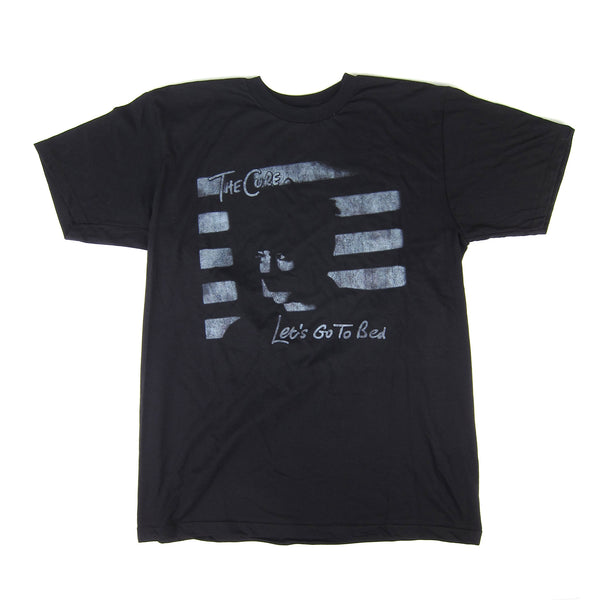 The Cure: Let's Go To Bed Shirt - Black