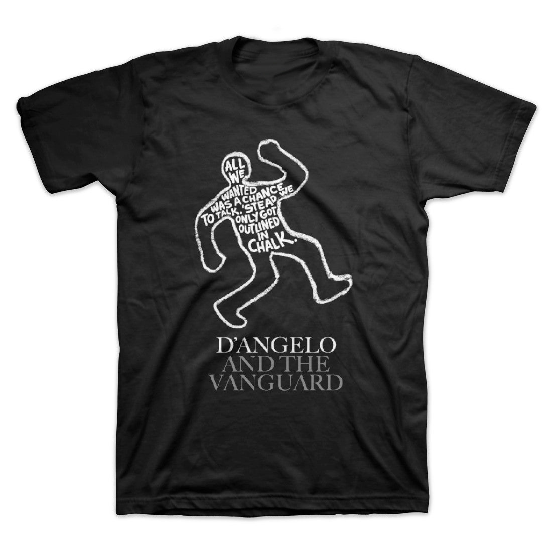 Okayplayer: D'Angelo The Charade Chalkline Shirt - Black