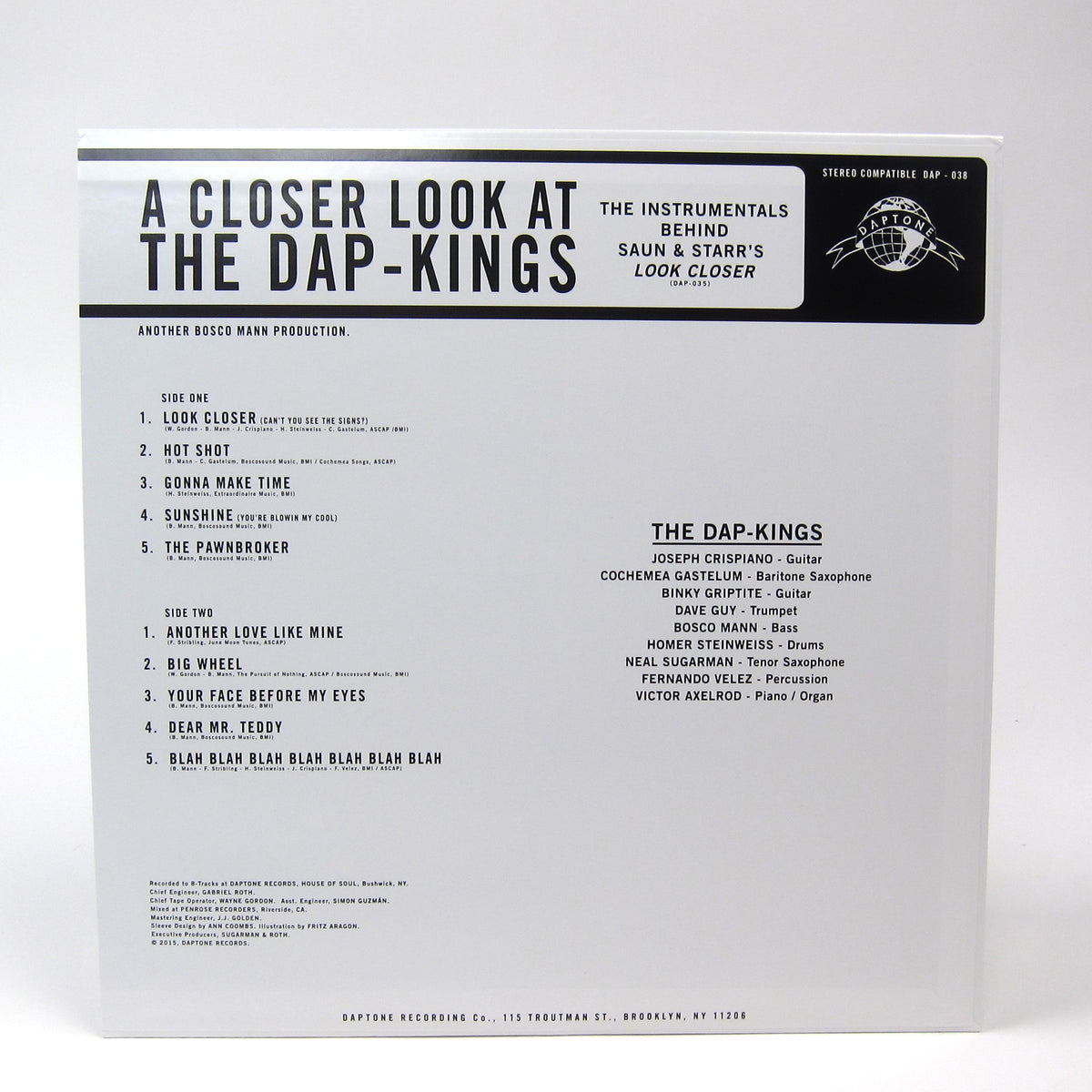 The Dap-Kings: A Closer Look At The Dap-Kings - The Instrumentals for Saun & Starr's Look Closer (Colored Vinyl) Vinyl LP (Record Store Day)