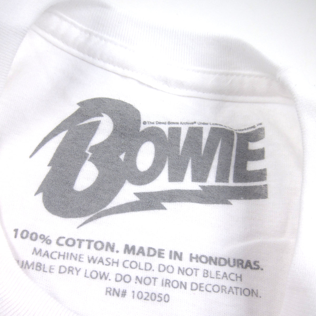 David Bowie: Smoking Shirt - White