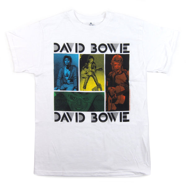 David Bowie: Colored Squares Shirt - White