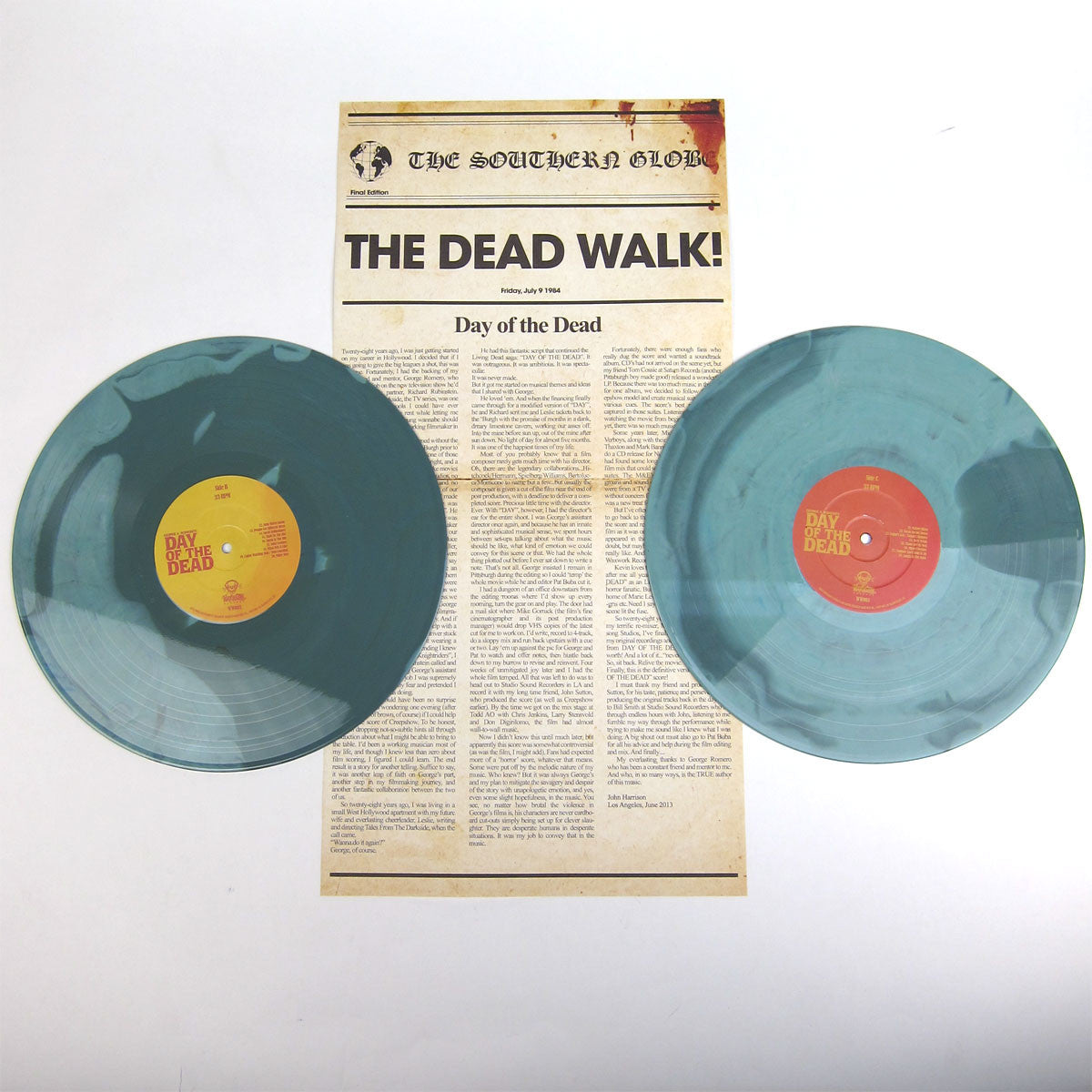 John Harrison: George A. Romero's Day Of The Dead OST (180g, Colored Vinyl) Vinyl 2LP
