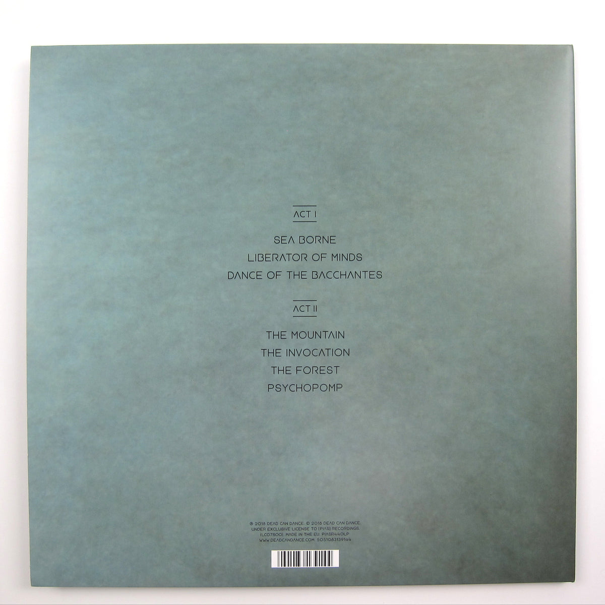 Dead Can Dance: Dionysus Vinyl LP