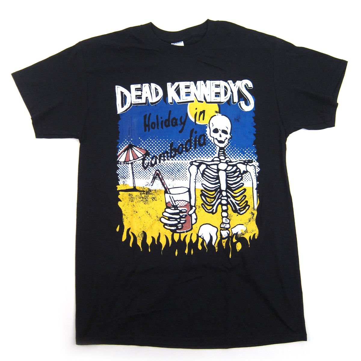 Dead Kennedys: Cambodian Skeleton Shirt - Black