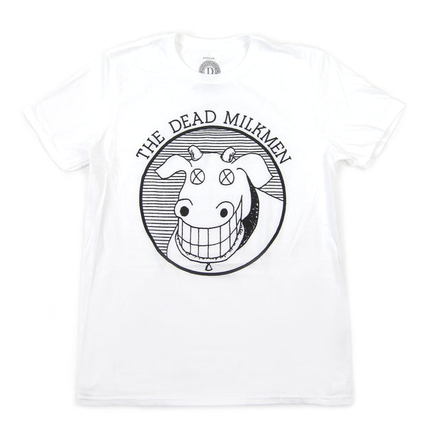 The Dead Milkmen: Cow Logo Shirt - White